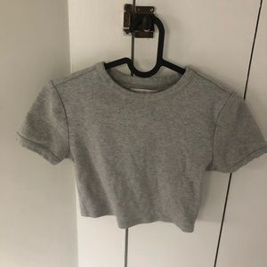 Urban Outfitters Grey Crop Top